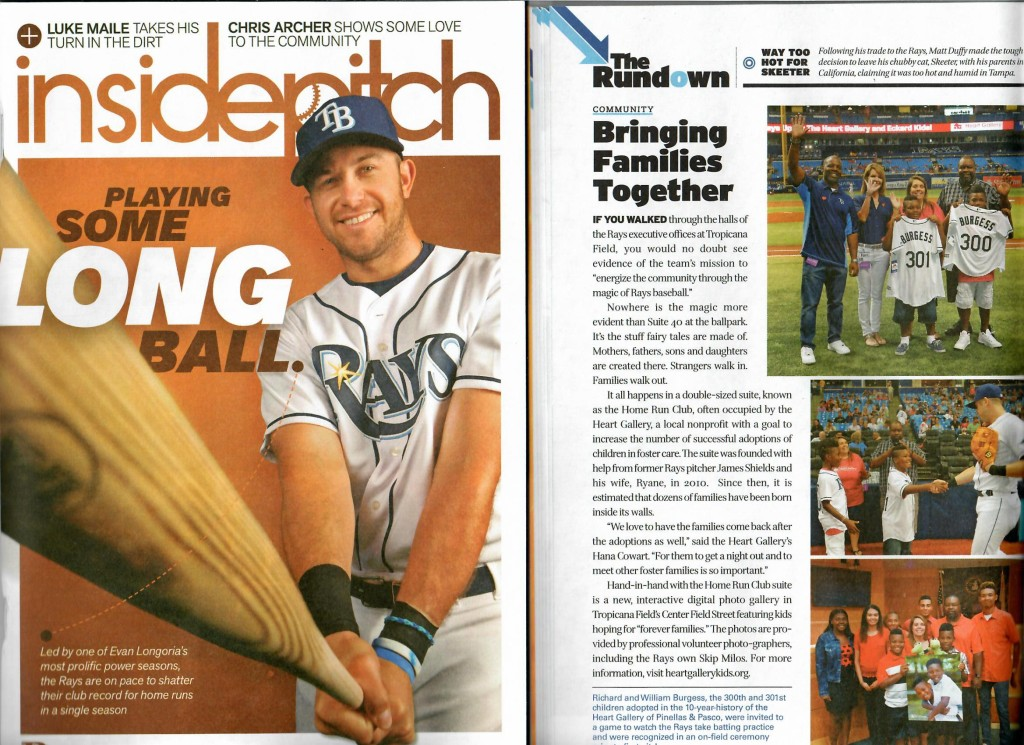 Heart Gallery family featured in Rays' Inside Pitch